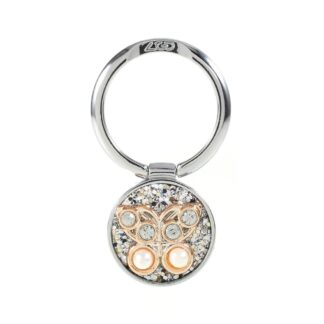 LGD Rhinestone - Finger grip holder til iphone / Smartphones - Sølv