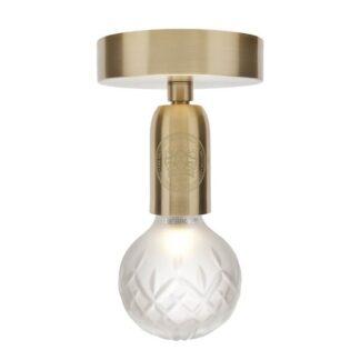 Lee Broom Crystal Bulb Loftlampe Matteret/Messing