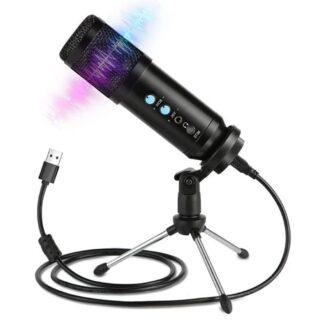 Mikrofon til PC/Laptop/Gaming - Kondensator - Inkl. Tri-Pod - Sort