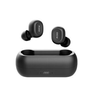 QCY T1C - TWS Trådløse Earbuds - Vandafvisende -Inkl opladerbox - Sort