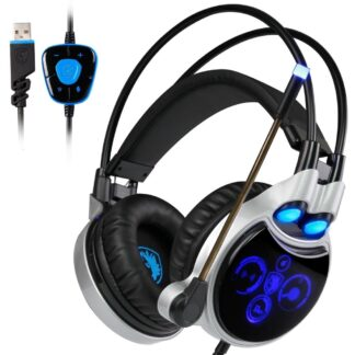 SADES - GAMING Høretelefoner - 50mm Driver - Stereo Surround 7.1 - Med LED lys - Kabel 2.2m
