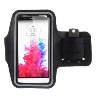 Universalt løbearmbånd til iphone / smartphones - op til str. 165*85mm - Sort