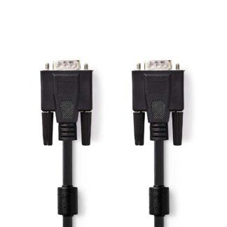 VGA (han) til VGA (han) kabel - Høj opløsning - 2m - Sort