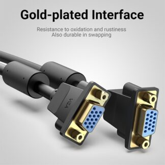 VGA (hun) til VGA (hun) forlængerkabel - Guld connectors - Understøtter Fuld HD 1080p - 1 meter