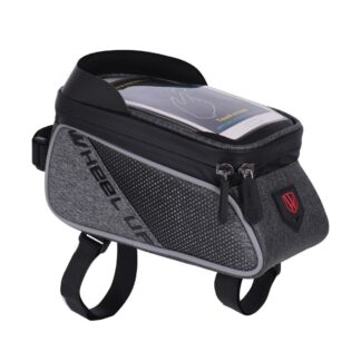 WHEEL UP - Vandtæt Front cykeltaske til Smartphones op til 15.8 x 9.5cm - Sort