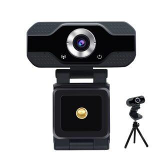 Web cam/kamera - 1080P fuld HD - Justerbar vinkel - Fleksibel montering - Sort