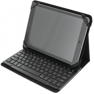 Cover og Bluetooth tastatur til 10 Tablets, sort - Tabletcover