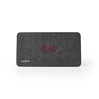 Bluetooth V5.0 højttaler - Indbygget ur   15 W   4 Timers spilletid - Sort/Grå