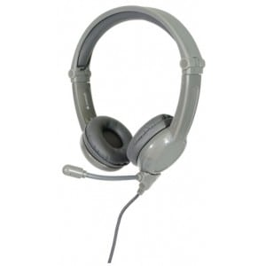 Galaxy Gaming Kids headphones, Mic, Grey