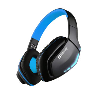 Blue Storm Wireless Headset Over-Ear, Black/Blue