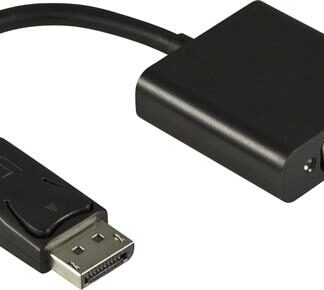 Displayport til VGA adapter kabel - Sort