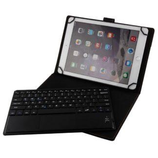 iPad 9.7 (2017/2018) - Universal Bluetooth/trådløs Tastatur DANSK layout m/aftagelig læder etui/cover - Sort