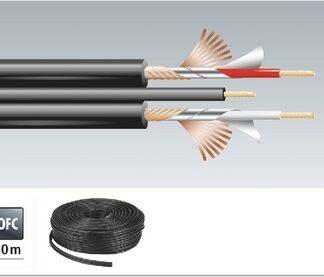 AC-53/SW Signalkabel 50m sort med signal ledning