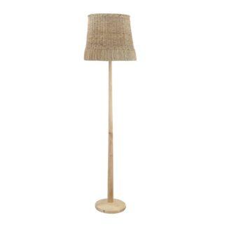 CREATIVE COLLECTION gulvlampe - natur rattan og gummitræ