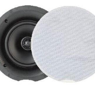 """Hi-Fi indbygnings højttaler Rund hvid 8 Ohm 8"""" bas - CB8"""