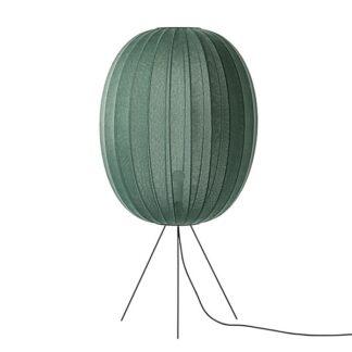 Made By Hand Knit-Wit Høj Oval Gulvlampe Medium Ø65 Tweed Green