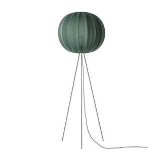 Made By Hand Knit-Wit Round Gulvlampe Høj Ø60 Tweed Green