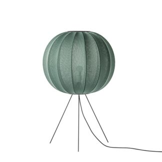 Made By Hand Knit-Wit Round Gulvlampe Medium Ø60 Tweed Green