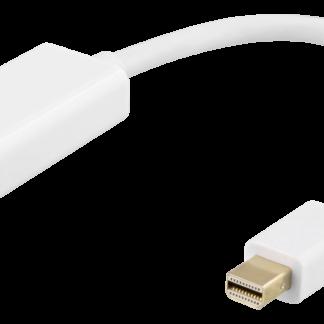 Mini DisplayPort til HDMI adapter - 4K 60Hz - 0,2m - Hvid - 5 års Garanti