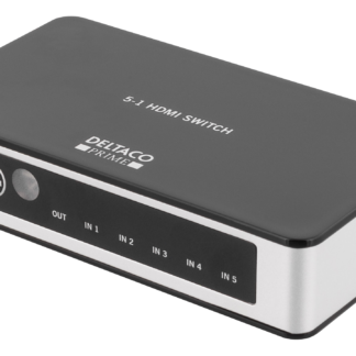 PRIME Premium HDMI Switch - 5 ports - med IR trådløs Remote