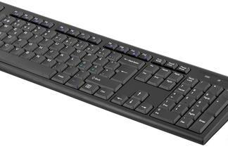 Trådløst tastatur & mus - USB modtager - DANK LAYOUT - sort