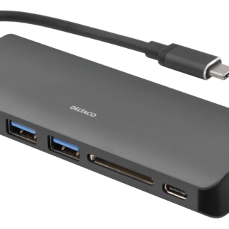 USB 3.1 - USB-C Dockingstation / Hub - 2x USB porte - 1xRJ45 - 1xUSB-C - 1 x HDMI - SD kortlæser - Sort