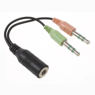 2 x 3.5mm (han) til 3.5mm (hun) splitter adapter