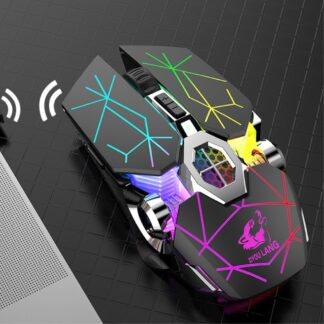 FREE WOLF - Trådløs 2.4Gh mekanisk Gaming mus - 7 LED backlight farver - Star sort