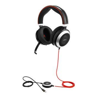 Jabra Evolve 80 USB-C Headset, Black (Duo)