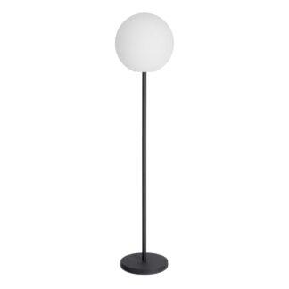 LAFORMA Dinesh gulvlampe, ledningsfri - sort stål og hvidt polyethylen (Ø 35)