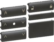 LK IHC®Wireless tangentsæt for jalousi batteritryk, koksgrå