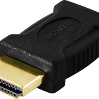 Mini HDMi (hun) til HDMI (han) adapter - Guldbelagte kontakter