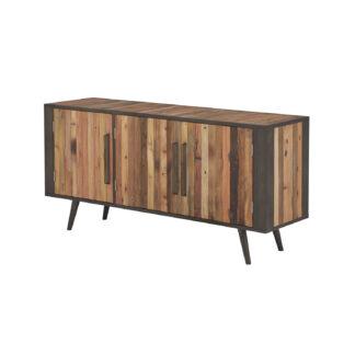 NOVASOLO TV-bord, m. 3 låger - brun genbrugstræ og jern