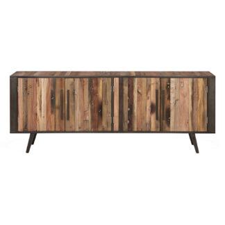 NOVASOLO TV-bord, m. 4 låger - brun genbrugstræ og jern