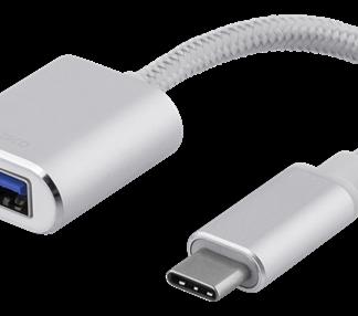 USB-C 3.1 (han) til USB-A (hun) OTG adapter kabel - Sort