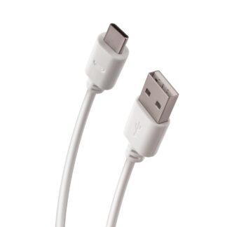 USB - Type-C - 2A HURTIG oplader / data kabel 1m. - Hvid