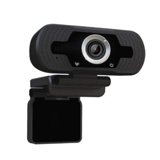 Web cam/kamera - 1080P fuld HD - Med mikrofon - Fleksibel monering - Sort