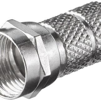 F-connector - F-Hun - 6,5 mm - Twist-On