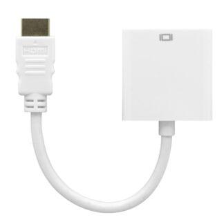 HDMI til VGA Adapter kabel - 1080@60HZ - Hvid