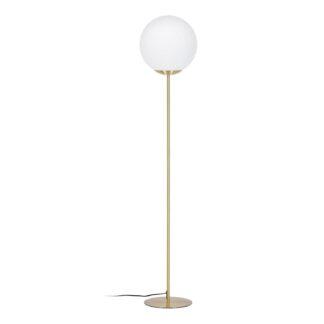 LAFORMA Mahala gulvlampe - hvidt glas og messing stål