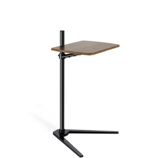 WERGON - Willow Lounge - Laptop / Tablet / Monitor - Justerbar stand med bord - H:30-90cm - Mørk brun