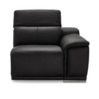Alexa modul, 1-personers, m. recliner og armlæn, højre - sort læder