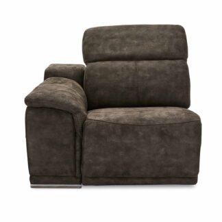 Alexa modul, 1-personers, m. recliner og armlæn, venstre - gråt stof
