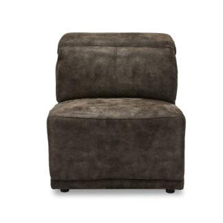 Alexa modul, 1-personers, u. armlæn, m. recliner - gråt stof