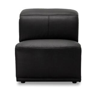 Alexa modul, 1-personers, u. armlæn, m. recliner - sort læder