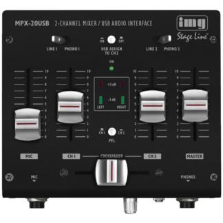 Mini Stereo DJ USB mixer - MPX-20USB