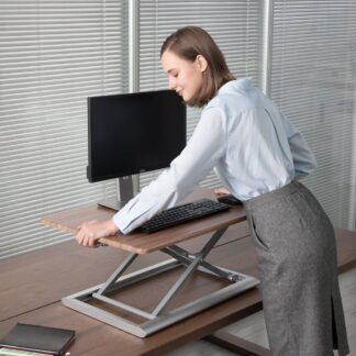 WERGON - Vincent - Justerbar Ergonomisk hæve/sænke møbel til bord/arbejdsplads - Lys bøg