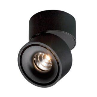 Antidark Easy Mini W75 Væglampe LED Sort M. Hul