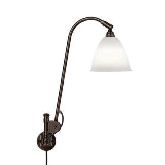 Bestlite BL6 Væglampe Sort Messing & Porcelæn