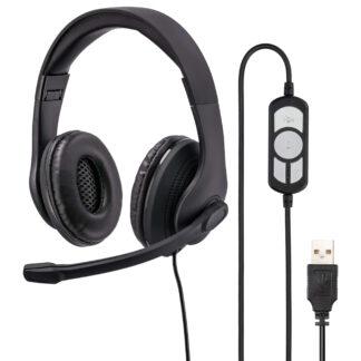HAMA PC Office Stereo Headset med USB kabel & kontrolpanel